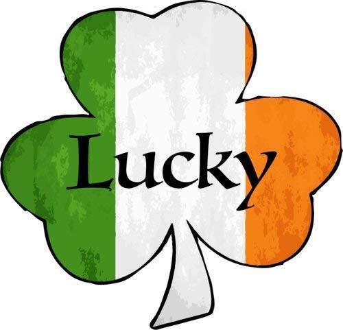 "ION Graphics Lucky Shamrock Vinyl Window Decal - Irish Bumper Sticker - Perfect Celtic Heritage Gift Size: 5.000"" x 5.000 inch"
