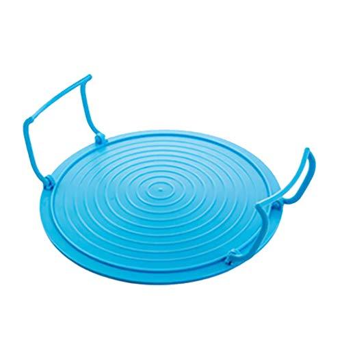 D DOLITY 1x Support Assiette Micro-Ondes Plateau Assiette Grille Plat en Plastique Grille Four Plateau - Bleu