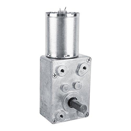 Motoriduttore DC 12V Riduzione Reversibile motore elettrico CW/CCW Motoriduttore a vite senza fine reversibile ad alta coppia 5/6/20/40/62RPM (62RPM)