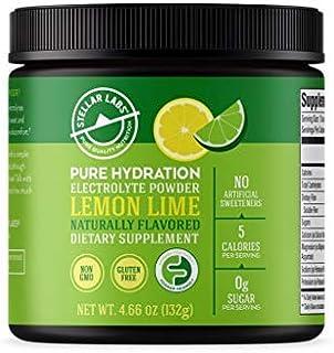 Stellar Labs Pure Hydration Electrolyte Powder Drink Mix. Sugar Free, Keto Friendly, Non GMO, Gluten Free, replenishing Vi...