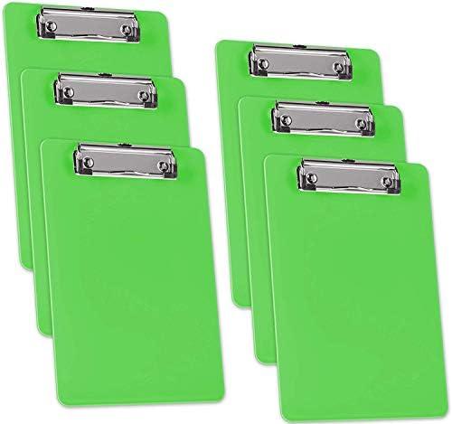 Acrimet Clipboard Memo Size A5 9 1 4 x 6 5 16 Low Profile Clip Plastic Green Citrus Color 6 product image