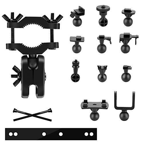 Dash Cam Mount Holder - Mirror Mount, Come with 15+ Different Joints, Suitable for Rexing V1P, YI 2.7', Peztio, YI Nightscape, Roav, VaVa AUKEY, APEMAN, and Most Other Dash Cameras Dash Cam/GPS