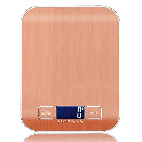 MJJEsports Weiheng 10kg 1g RVS digitale weegschaal elektronische weegschaal keuken levensmiddelen dieet gereedschap, Plata, 1