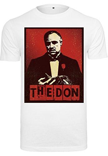 MERCHCODE Herren Godfather The Don Tee T-Shirt, White, L