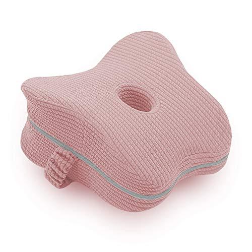 JEMESI Leg Pillow Komfort, Ergonomisches Kniekissen für Seitenschläfer Linderung mit Gummiband, Memory Foam Kissen Schwangerschaft Schlafkissen, Kniestützkissen Beinkissen zum Schlafen