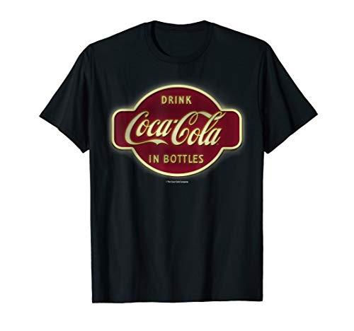 Coca-Cola Retro Neon Sign In Bottles Logo Graphic T-Shirt
