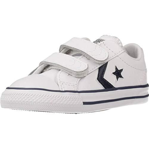 Converse Lifestyle Star Player 2V Ox, Zapatillas Unisex niño, Multicolor (White/Navy 111),...