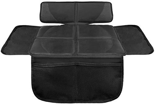 LIONSTRONG Kindersitzunterlage, ISOFIX geeignete Unterlage für Kindersitze, Sitzschoner zum Schutz Ihrer Autositze (S (1er Pack), Schwarz