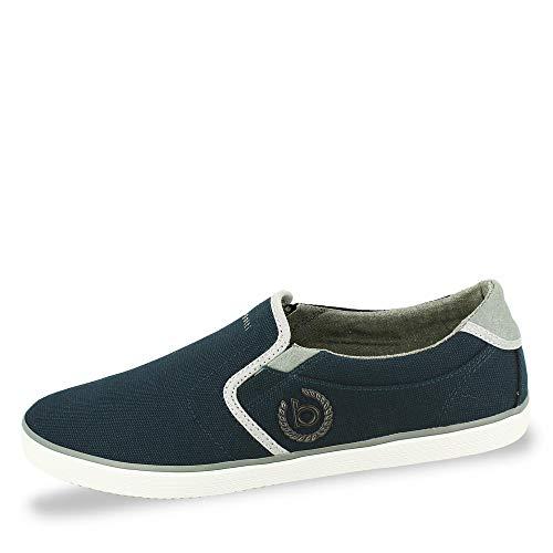 bugatti Herren 321502656900 Slip On Sneaker, Blau, 44 EU