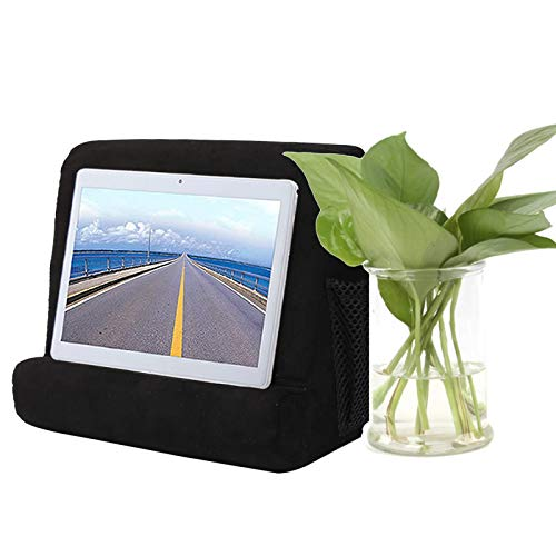 iPads Tablet Stand Pillow Holder,Multi-Angle Phone Pillow Lap Stand Pillow Holder iPads, Tablets, eReaders, Books, Magazines (Black)