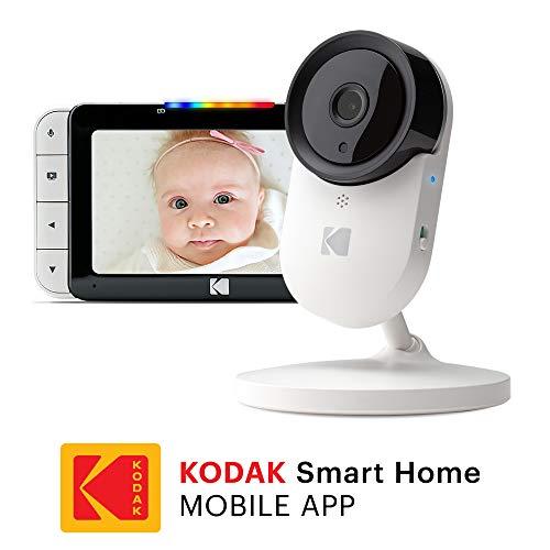 KODAK CHERISH C520IR Video-Babyphone – Zoomende Babykamera, 5-Zoll-HD-Babymonitor, One-Touch-Audiomonitor, mobile und WiFi-App