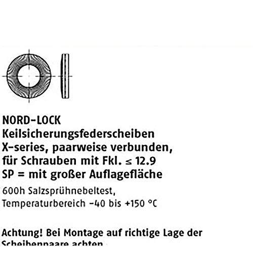 Nord-Lock ART 88132 Nord-Lock X-series NLX8sp - Discos de disco (8,4 x 16,6 x 2,3 mm, 200 unidades)