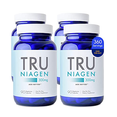 Patented NAD+ Supplement More Efficient Than NMN - Nicotinamide Riboside for Energy, Metabolism Booster, Vitality, Muscle Health, Healthy Aging, Cellular Repair - 90ct - 300mg (12 Months / 4 Bottles)