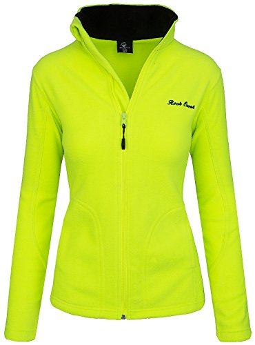 Rock Creek Damen Fleecejacke Fleece Jacke Übergangs Jacke Sweatjacke D-389 [Neonyellow XXL]