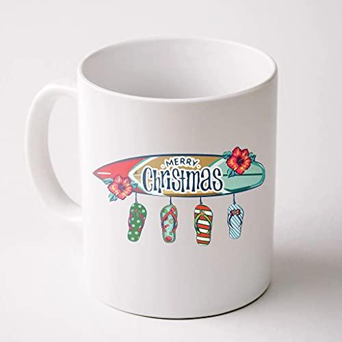 Christmas In July Surf Board Flip Flops Coffee Mug