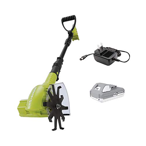 Sun Joe TJW24C 24-Volt Cordless Telescoping Power Weeder/Cultivator, Kit (w/ 2.0-Ah Battery and Charger)