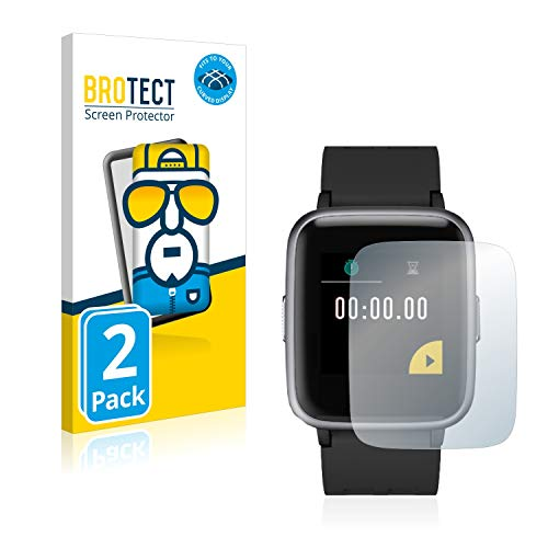 BROTECT Full-Cover Schutzfolie kompatibel mit Letsfit Fitness Tracker 1.3