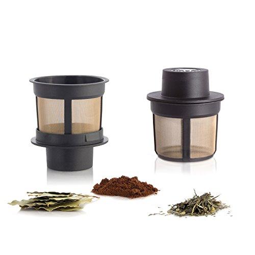 Finum FLOATING BASKET schwimmender Dauerfilter für Tee, Kaffee und Gewürze - Permanentfilter mit Gewebe aus Edelstahl als Teefilter, Kaffeefilter und Gewürzfilter