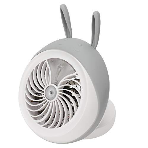 YILUFA Portable Fan Cute Desktop Mini Fan Portable Humidifying Mist Spray Fan For Home Office Supplies Gray Rabbit