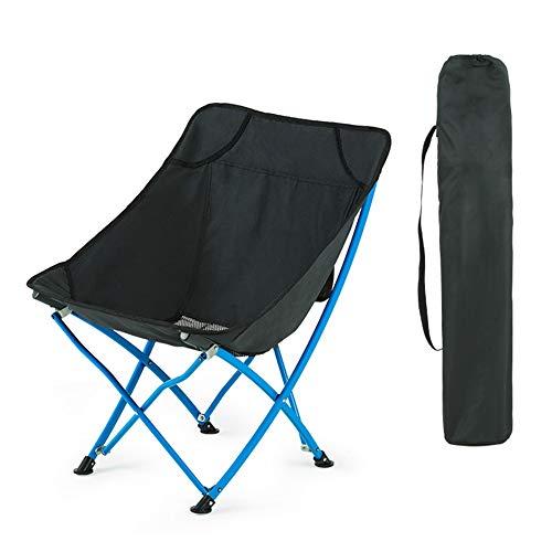 KSSUN - Silla plegable para camping al aire libre, ligera, portátil, plegable, para mochilero, senderismo, picnic, eventos deportivos con transporte, Material, negro, Size