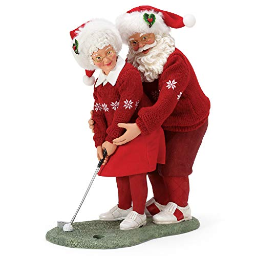 Department 56 Possible Dreams Santa Sports and Leisure Mrs. Claus Golf Pro Figurine, 10.5 Inch, Multicolor