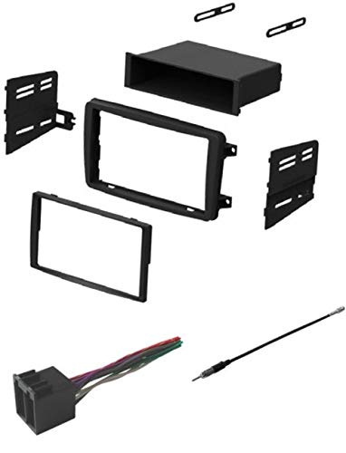 ASC Audio Car Stereo Radio Install Dash Kit, Wire Harness, and Antenna Adapter to Add an Aftermarket Radio for some 2001 2002 2003 2004 Mercedes C Class C230 C240 C320