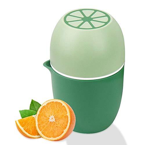 Exprimidor de limones único con dos posibilidades de exprimidor para diferentes frutas (verde)
