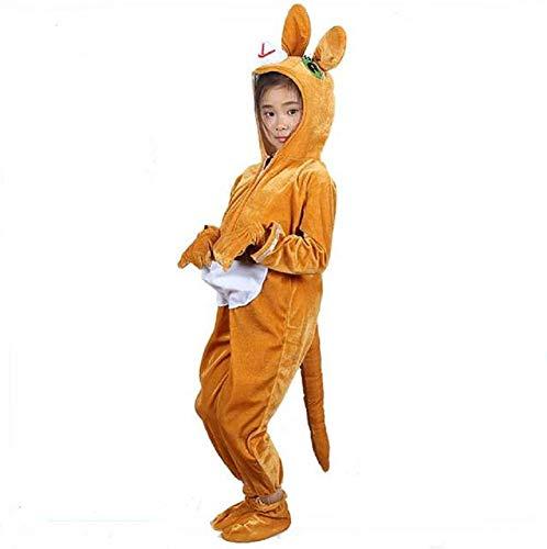 Matissa Kinder Tier Kostüme mit Kapuze Kostüm Party Unisex Outfit Pyjamas Cosplay (Känguru, S (Für Kinder 90-105 cm groß))