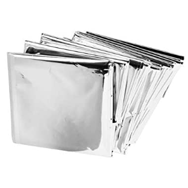 Science Purchase Emergency Mylar Thermal Blankets (5 Pack)