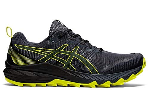 ASICS Men's Gel-Trabuco 9 Running Shoes, 8M, Carrier Grey/Sour Yuzu