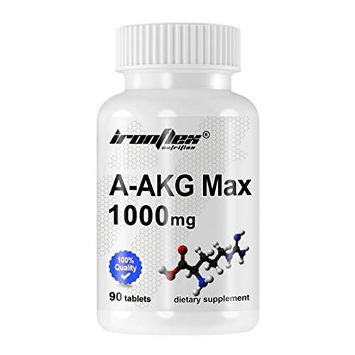 IronFlex A-AKG MAX 1000 Confezione da 1 x 90 Compresse - Arginina Alfa-Chetoglutarato con Vitamina C