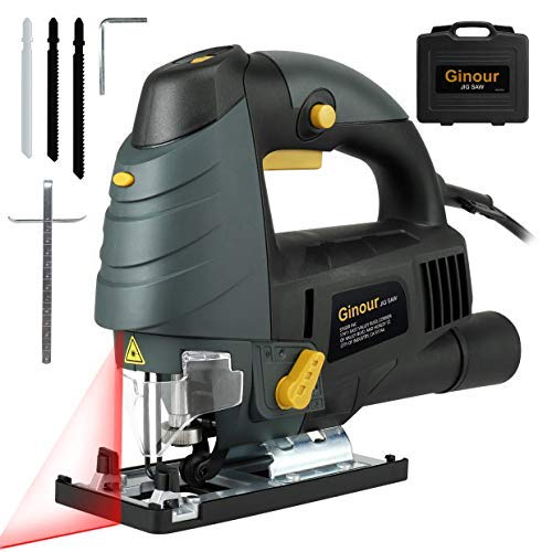 Ginour 7.0A Corded Jig Saw with Laser Guide & LED