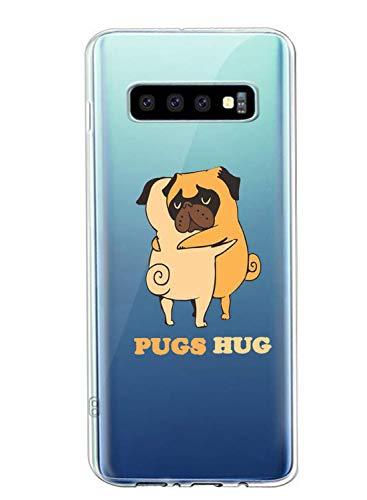 Oihxse Transparente Funda para Samsung Galaxy A51/M40S Ultrafina Silicona Suave TPU Carcasa Interesante Perro Patrón Flexible Protectora Estuche Antigolpes Anti-Choque (A9)