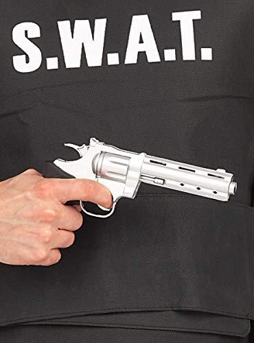 Funidelia | Pistola de polica para nio Guardia, Agente, FBI, Profesiones - Negro, Accesorio para Disfraz
