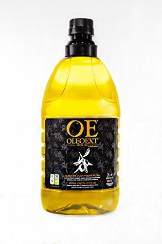 OleoExt - Aceite de Oliva Virgen Extra Monovarietal Cornicabra (frutado medio) de cosecha temprana- Garrafa 2 Litros
