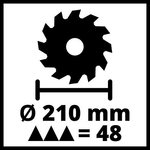 Einhell Zug-Kapp-Gehrungssäge TC-SM 2131/1 Dual (1.500 W, Ø210 x Ø30 mm Sägeblatt, 31 cm/21 cm Schnittbreite 90°/45°, Neuheit 2020, Zugfunktion, Spannvorrichtung, inkl. Hartmetall-Sägeblatt) - 8