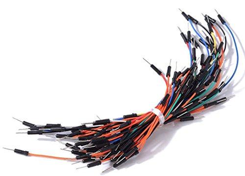 Aihasd 65pcs Sin Soldadura Flexibles Cables de Puente Protoboard Cable Macho a Macho para Arduino