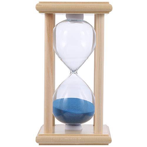 FAVOMOTO 15 Minutos Temporizador Reloj de Arena Reloj de Arena de Madera para Adorno Decoración Restaurante Sala de Estar Armario Oficina Dormitorio Fiesta Marco de Madera Reloj de Arena