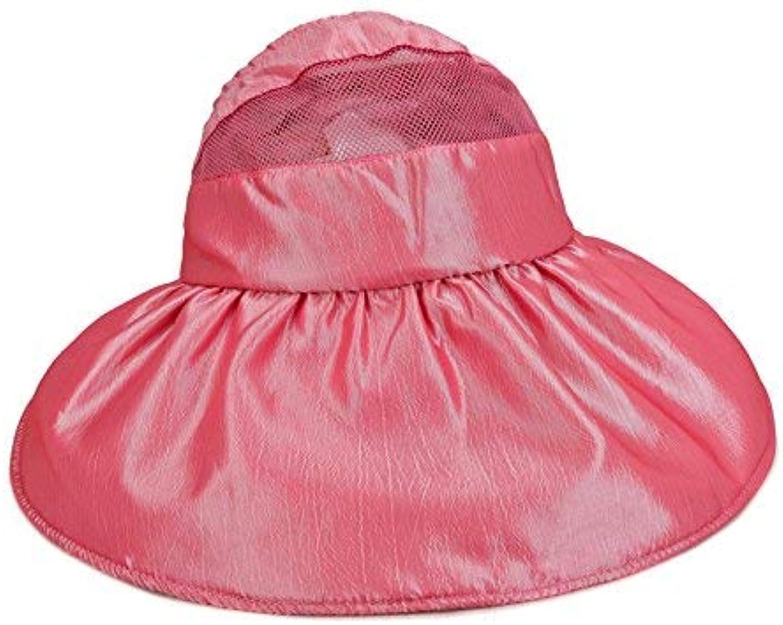 Beach Hat Folding Cap Summer Seaside Sunscreen Sunscreen Summer Sun Hat (color   Red 1)