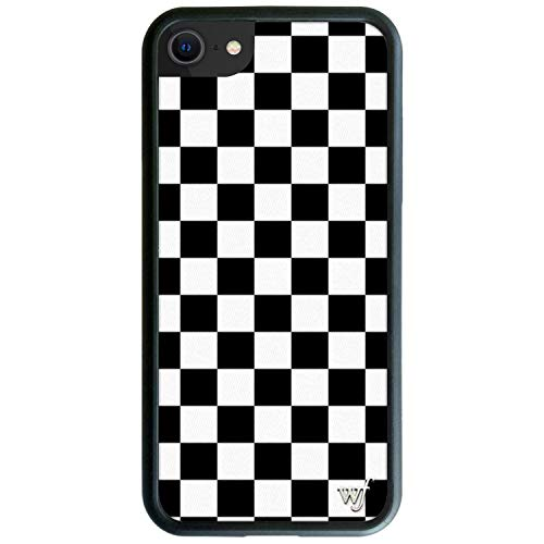 Wildflower Limited Edition Cases for iPhone 6, 7, 8 or SE (Black Checkered)