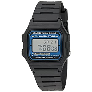 Casio watches Casio Men's Illuminator Quartz Watch with Resin Strap, Black, 18 (Model: EAW-F-105W-1A)