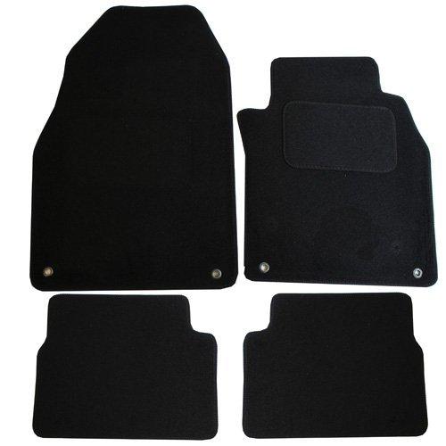 JVL Saab 9-3 MK2 2002-2012 volledig op maat gemaakte auto mat set met 4 ring clips - 4 stuks zwart
