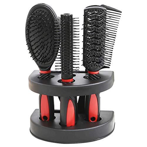 Haarbürste 4-teiliges Rundbürste Allzweckbürste Entwirr-Bürste Zauberbürste Stylingbürste Skelettbürste Sassoon Bürste für Männer Frauen antistatische Ionen-Rundhaarbürste Scalp Brush Haarpflege Set