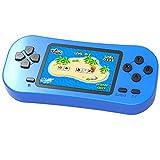 ZHISHAN Handheld Spielkonsole für Kinder Eingebaute 218 Klassische Retro Elektronisches Video Spiele 2.5 ' LCD 3,5 MM Kopfhöreranschluss Wiederaufladbar Arcade (Blau)