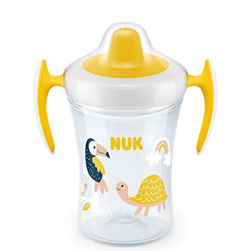 NUK Trainer Cup vaso antiderrame bebe, boquilla de bebida suave a prueba...