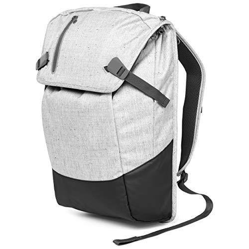 AEVOR Daypack - erweiterbarer Rucksack, ergonomisch, Laptopfach, wasserabweisend - Bichrome Steam - Hellgrau