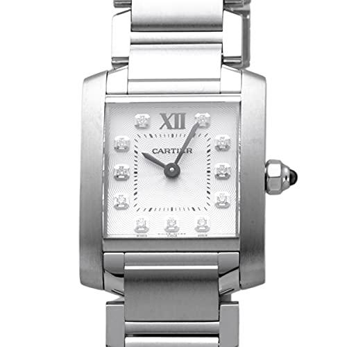カルティエ Cartier タンク フランセーズ SM WE110006 シルバー文字盤 腕時計 レディース (W206624) [並行輸入品]