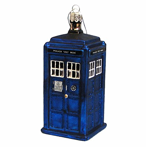 MyPartyShirt TARDIS Police Box Doctor Who GLASS Ornament