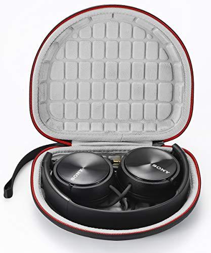Hard Travel-Tasche für Sony MDRZX110NC / ZX300 / ZX310 / MDRZX110 ZX-Serie Stereo / MDRZX110AP Extra Bass-Kopfhörer, schützende Aufbewahrungstasche - Schwarz