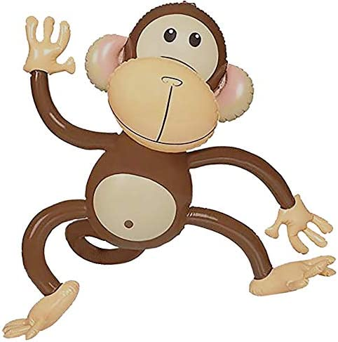 Inflatable Monkey 4 Pack 27 Inch Monkeys For Jungle Safari Birthday Party Decoration Supplies product image